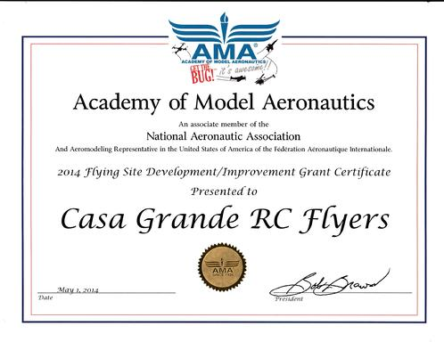 AMA Grant Award.  Thank you, AMA.